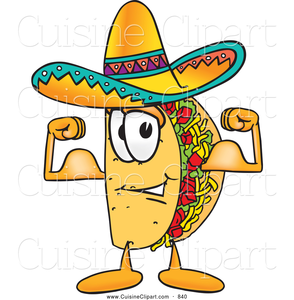 Taco happy. Cuisine clipart of a