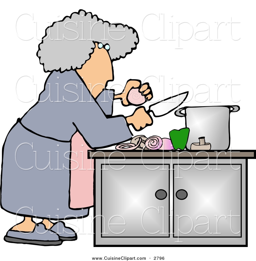 Peachy Cuisine Clipart Of A Housewife Preparing A Meal For Dinner Interior Design Ideas Clesiryabchikinfo