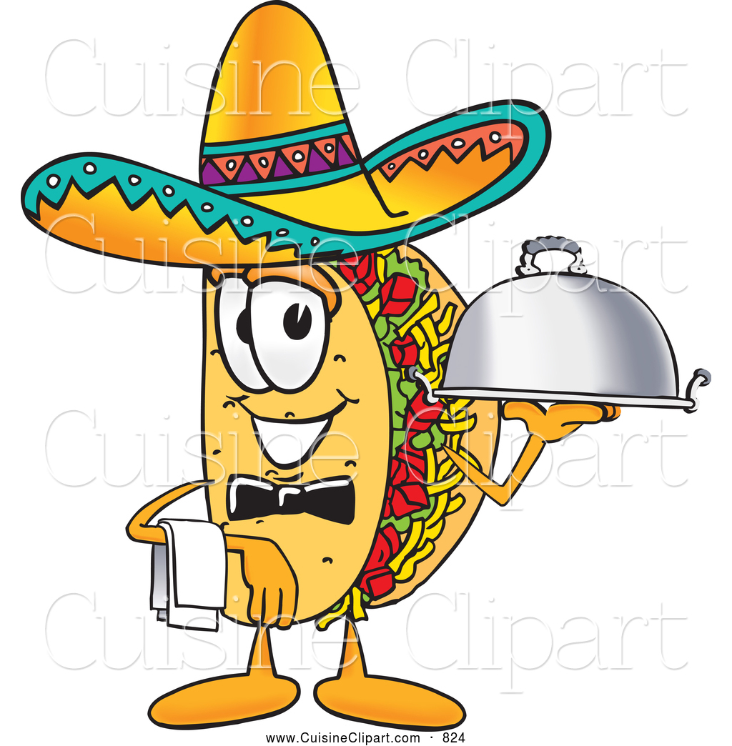 cuisine clipart of a smiling taco mascot cartoon character dressed rh cuisineclipart com Fish Taco Clip Art Fish Taco Clip Art