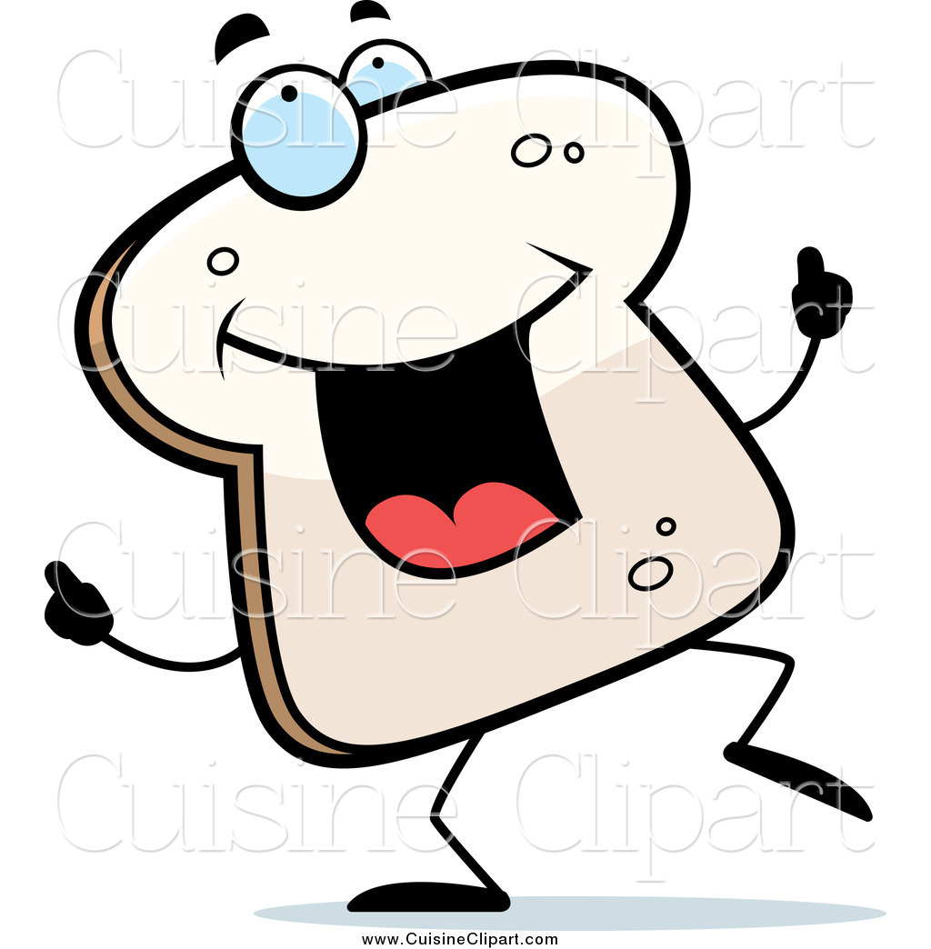 cuisine clipart of happy bread dancing by cory thoman 12378 rh cuisineclipart com Dancing in the Rain Clip Art Funny Food Clip Art